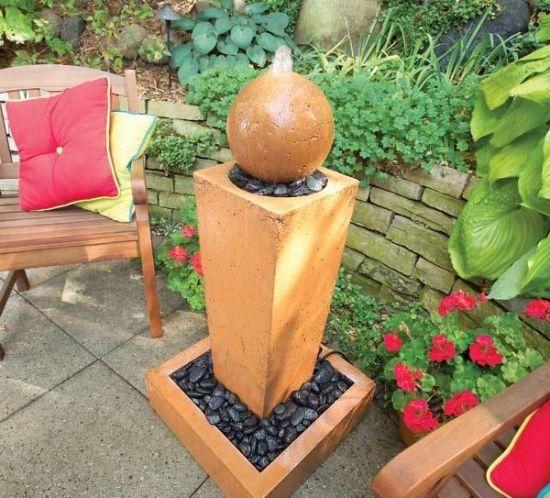 Wasserbrunnen Design Terracotta-Garten Kugel Gartenbrunnen - kugeln fur garten