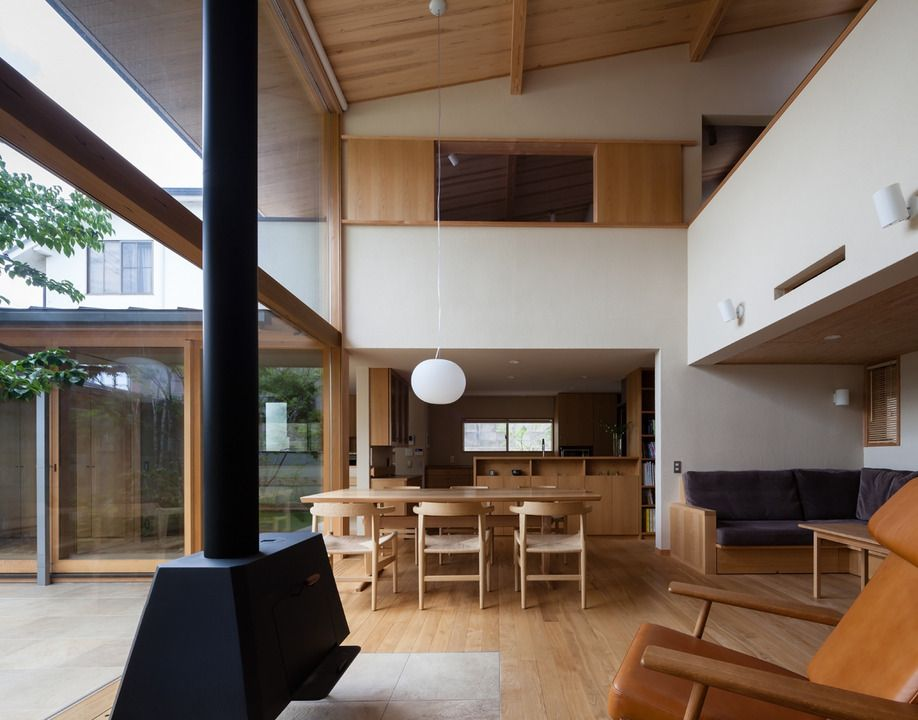 内庭 外庭の家 横内敏人建築設計事務所 住宅 和モダン 部屋 家