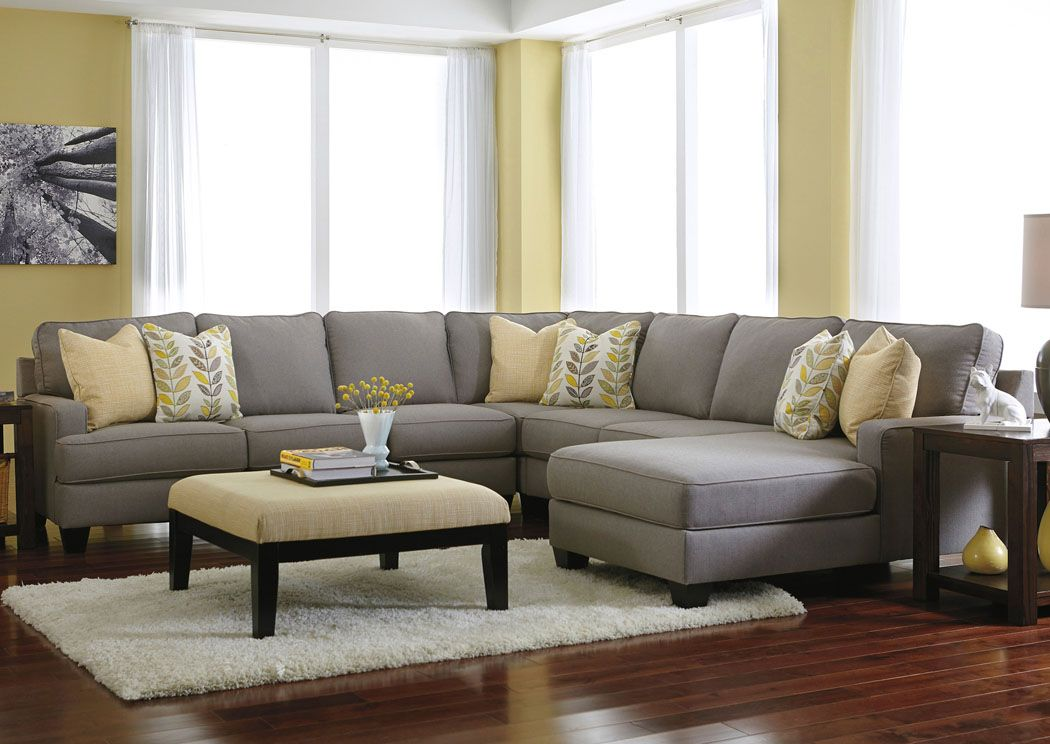 Jennifer Convertibles: Sofas, Sofa Beds, Bedrooms, Dining Rooms U0026 More!  Chamberly Alloy Right Arm Facing Chaise End Extended Sectional
