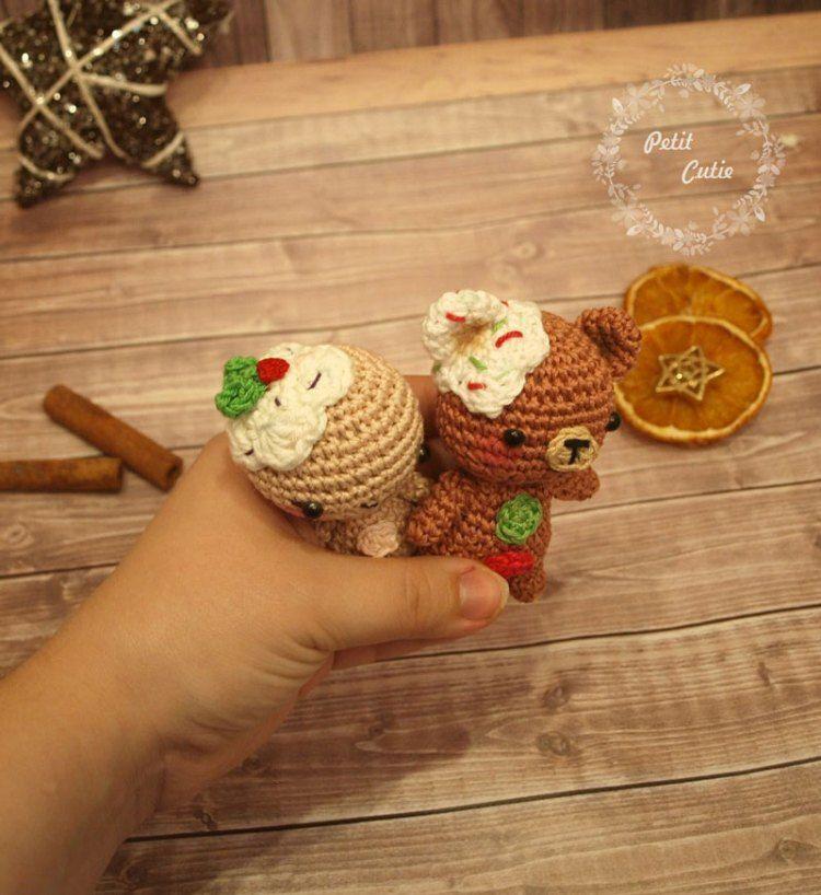 Lebkuchenmann und Teddyhäkeln | weihnachtsschmuck | Pinterest ...