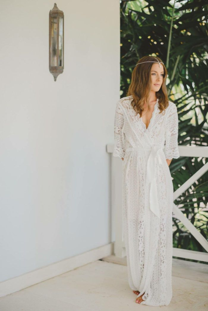 f8cbb5089 Full length white lace bridal wedding robe. Long lace bridal robe from  LeRose Gifts on Etsy