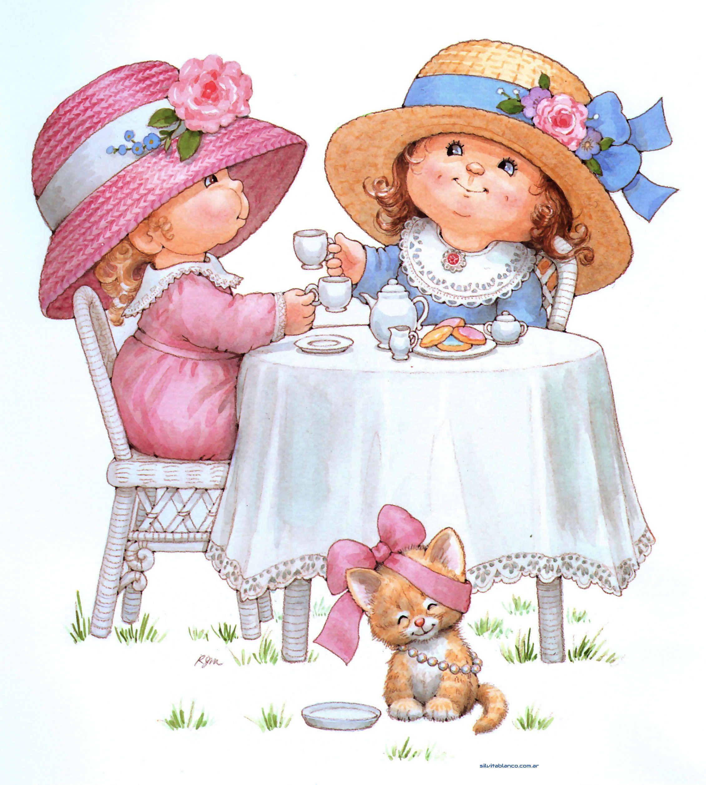 Открытка две куклы, открытки для