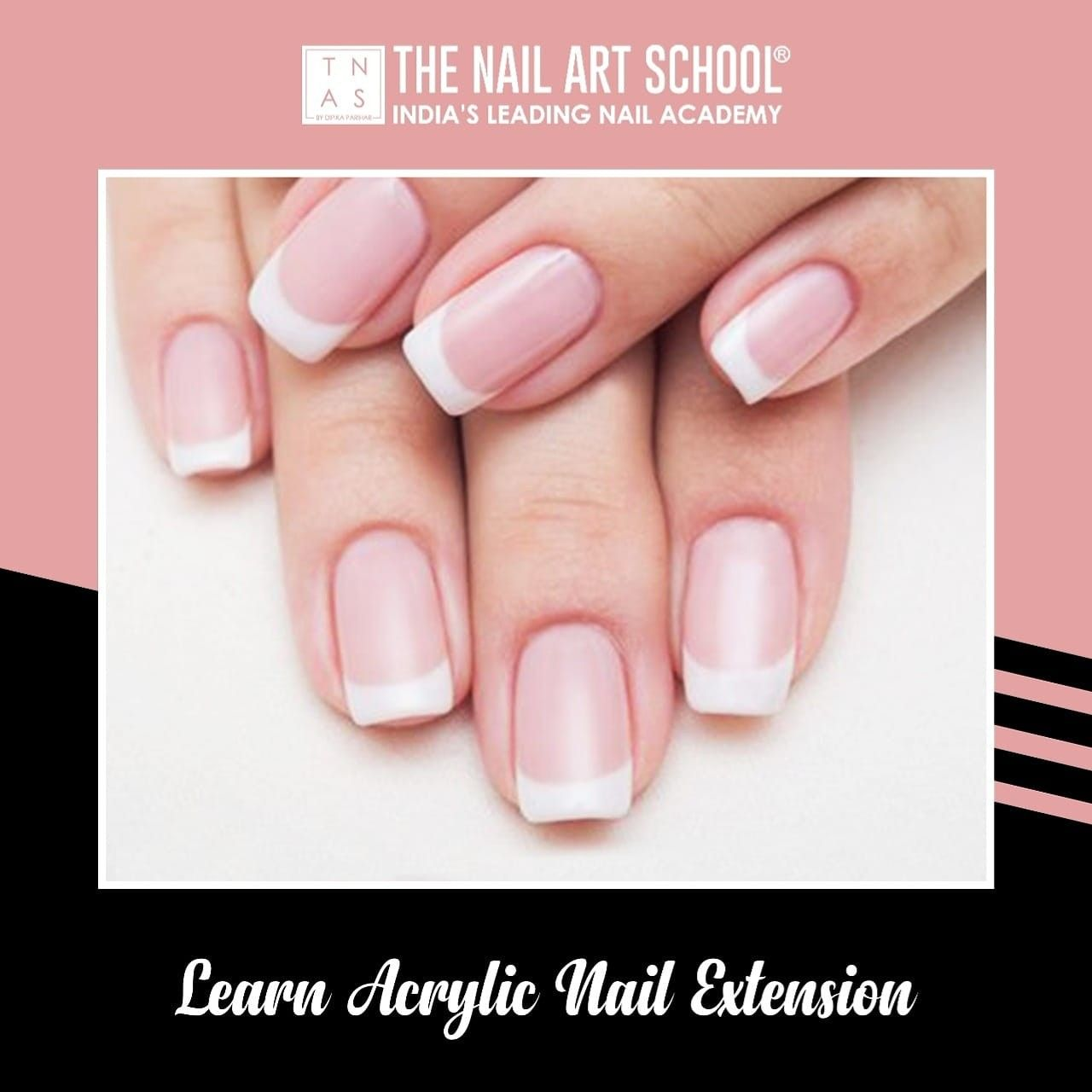 Permanent Acrylic Nail Extensions are just like the blank canvas for self expression. With just right amount of knowledge, you can turn your nails into a masterpiece✨  Learn Permanent Acrylic Nail Extensions with perfect techniques at The Nail Art School.    #AcrylicNailExtension #NailArtCourses #NailArt #Nails #NailArtDesign #NailTechnicians #nailtrends #LearnNailArt #NailCourse #DIY #NailPro #NailTechnician #NailExtensions #Learn #Enrol #gelpolish #nailpolish #GLAMNailProduct #RNailLounge