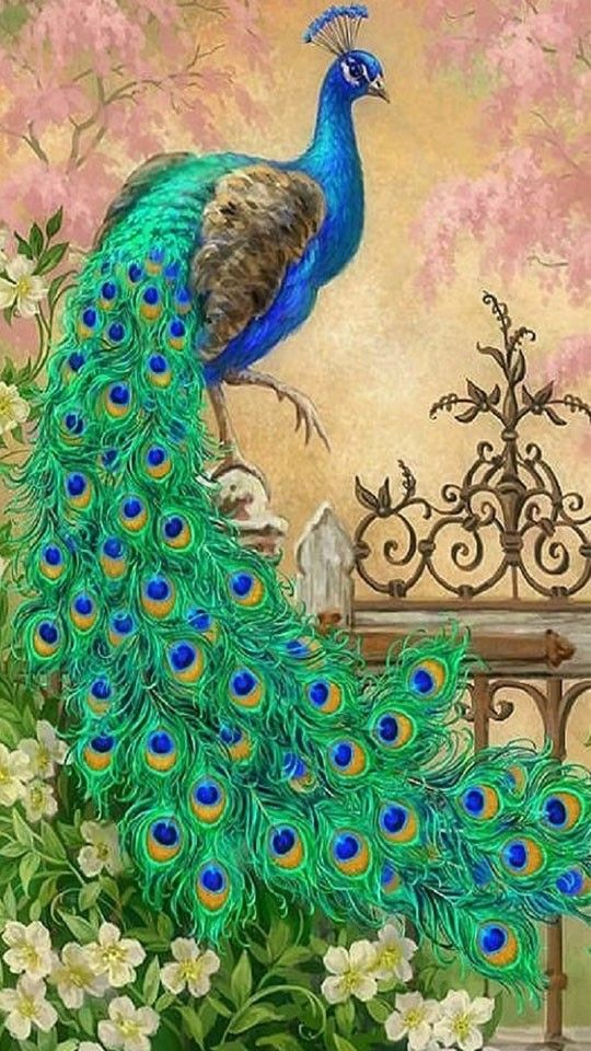 Peacock 6x8 FT Backdrop Photographers,Peacock Over an Abstract Grunge Background Sketchy Stylized Nature Theme Artwork Background for Baby Shower Bridal Wedding Studio Photography Pictures Green Yell