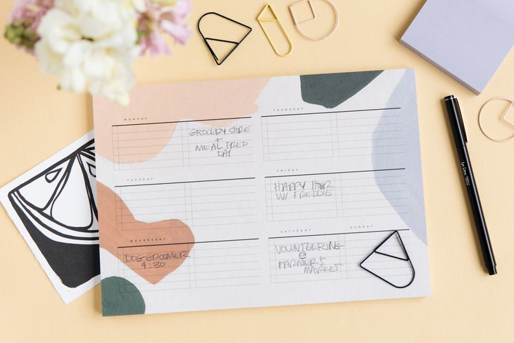 Shop alma weekly planning notepad by moglea explore more