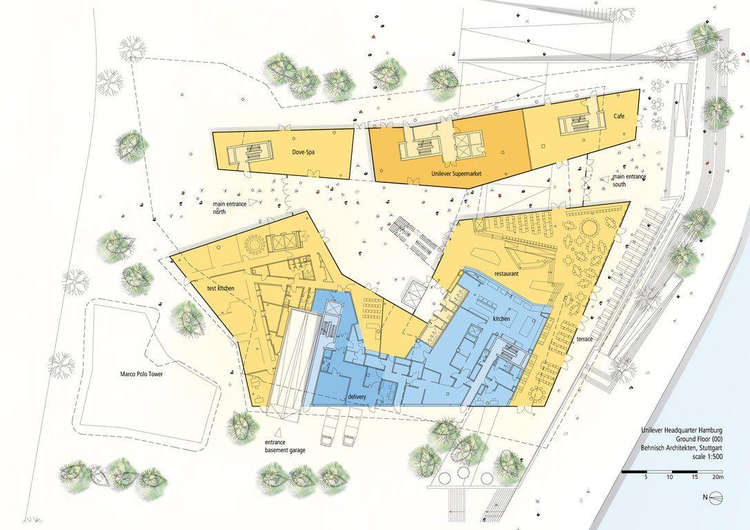 Unilever Haus Hamburg   Ground Floor Plan