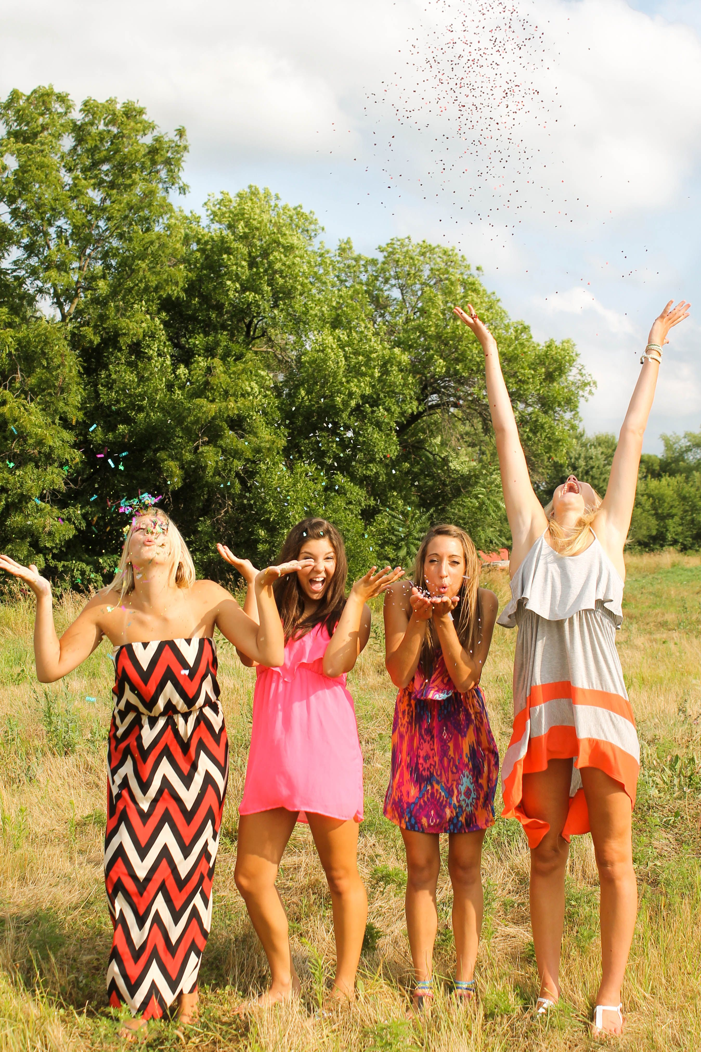 {Teen Photography} Best Friend Pictures - Confetti - 4 Best Friends