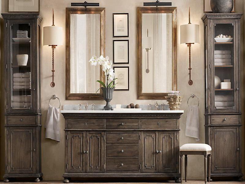 Restoration Hardware Bathroom Vanities  Bathroom Vanities New Rustic Bathroom Hardware 2018