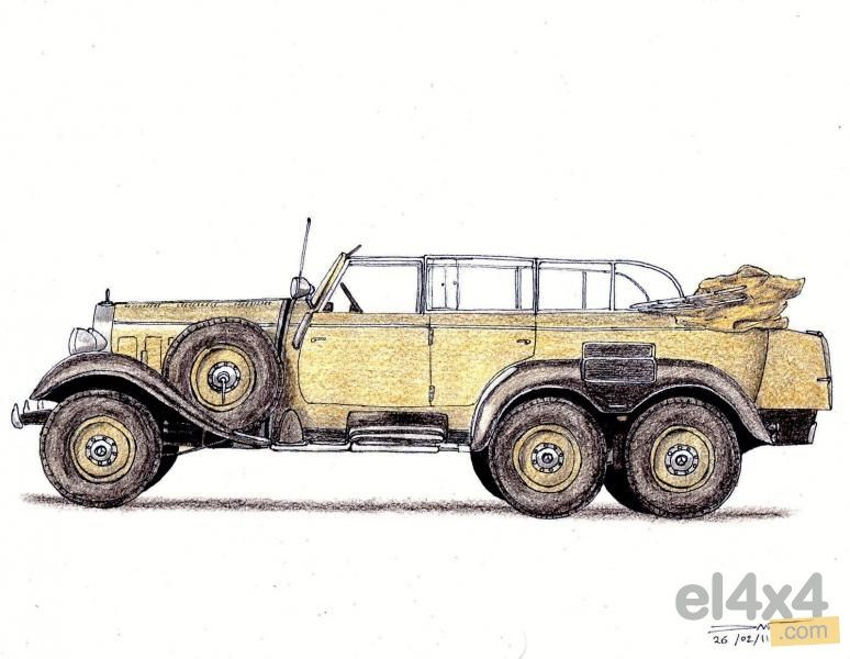 Mercedes benz 6x6 g4 w series 31 1934 1939 rally 4x4 for Mercedes benz g4