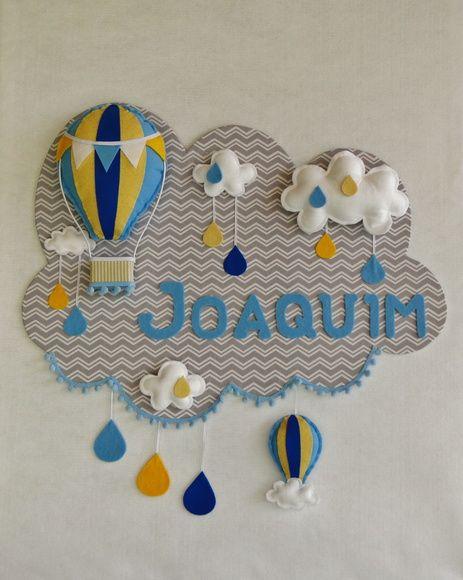 102eca86e6867 Painel PORTA MATERNIDADE Balão 4 Feltro