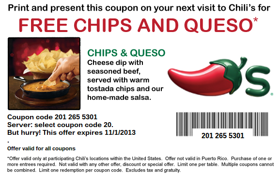 photograph regarding Chilis Printable Coupon titled Pin through Sheehy Keate upon Things toward Purchase Chilis coupon codes, Free of charge