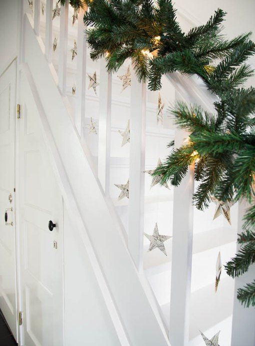 Step Up Your Game With These Christmas Decorations for Your Stairs   Hunker   Christmas stairs ...
