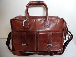Iristyler Brown Hand Made Lamb Skin Travel Bag