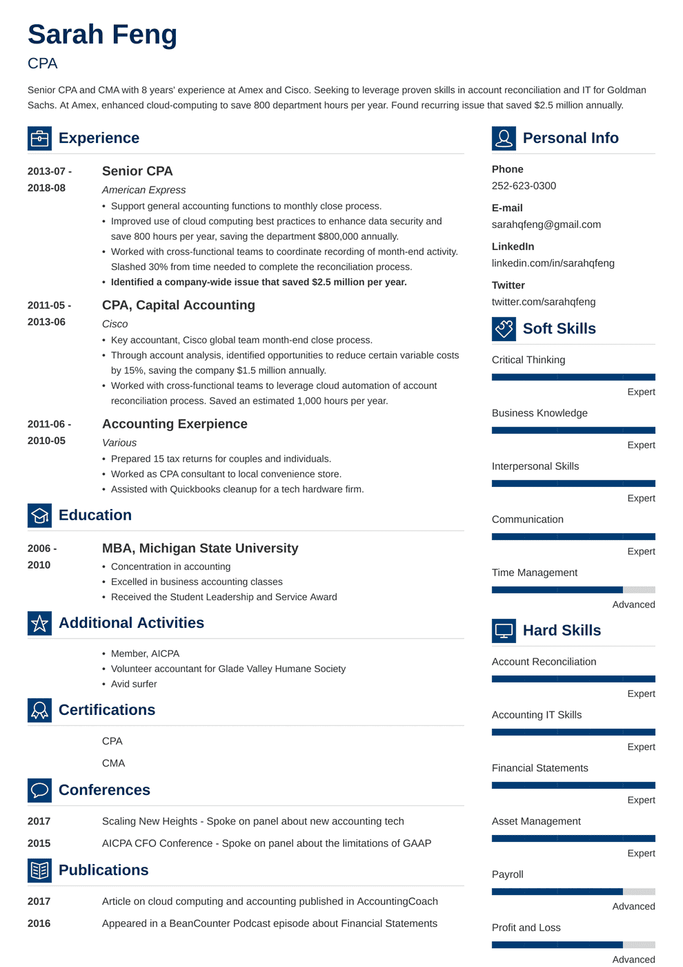 accounting resume template vibes in 2020 Resume examples