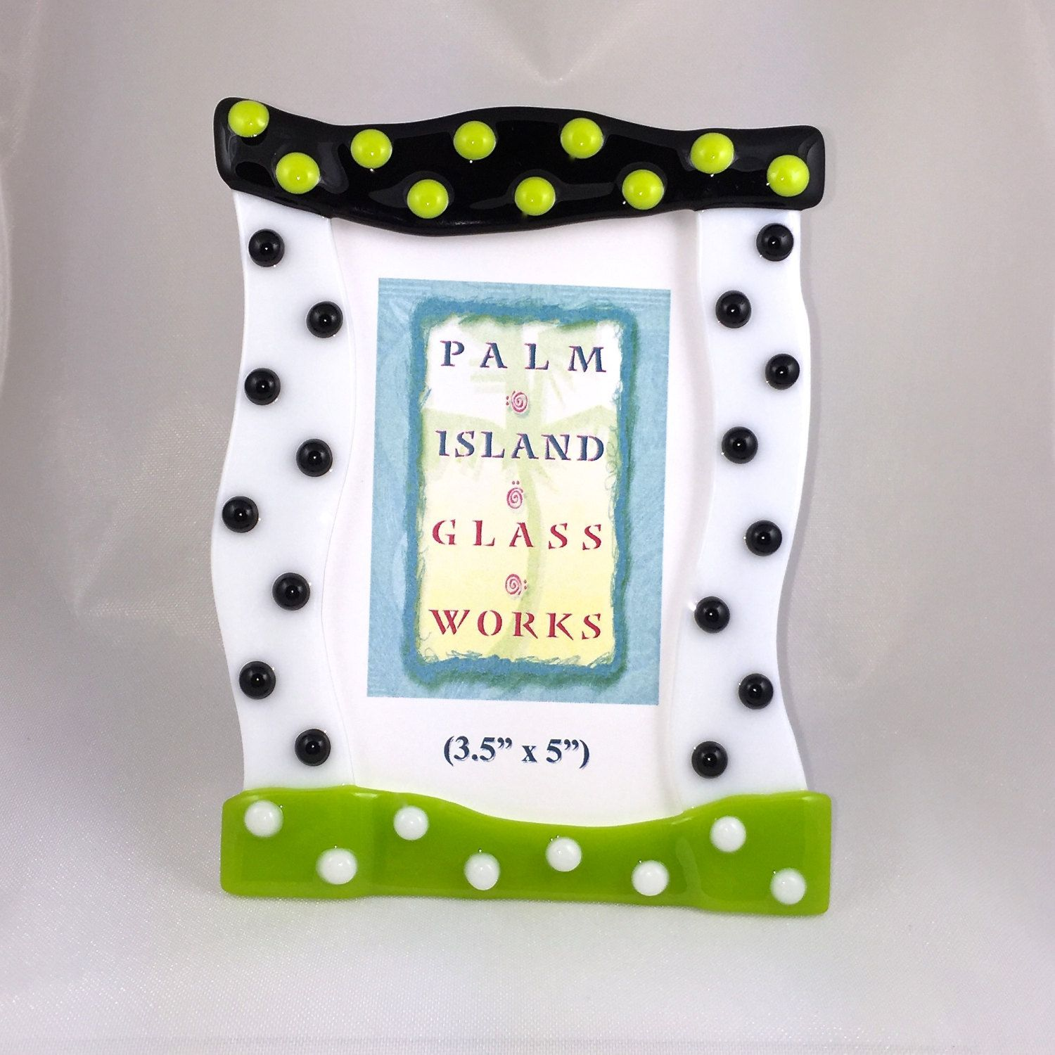 Fused Glass Picture Frame - \
