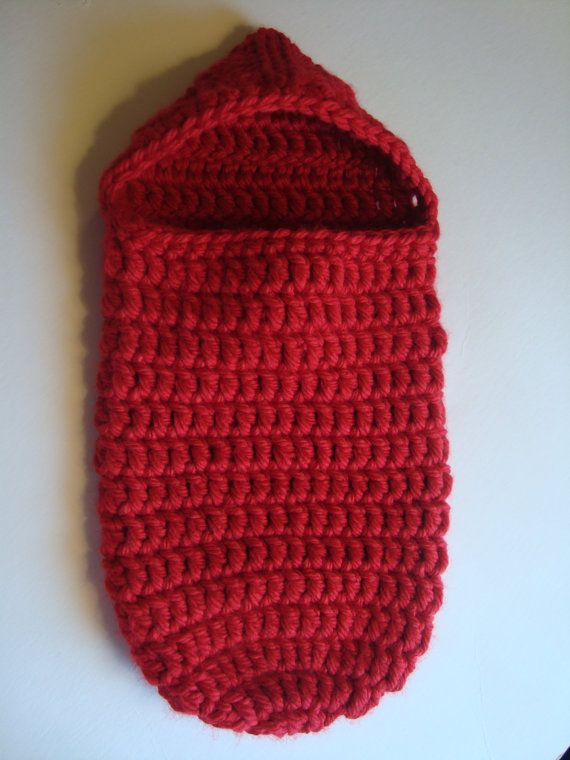 Handmade Crochet Red Valentine Baby Cocoon with by SuperCrochetMom ...