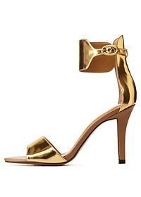Report Signature Metallic Ankle Cuff Heels