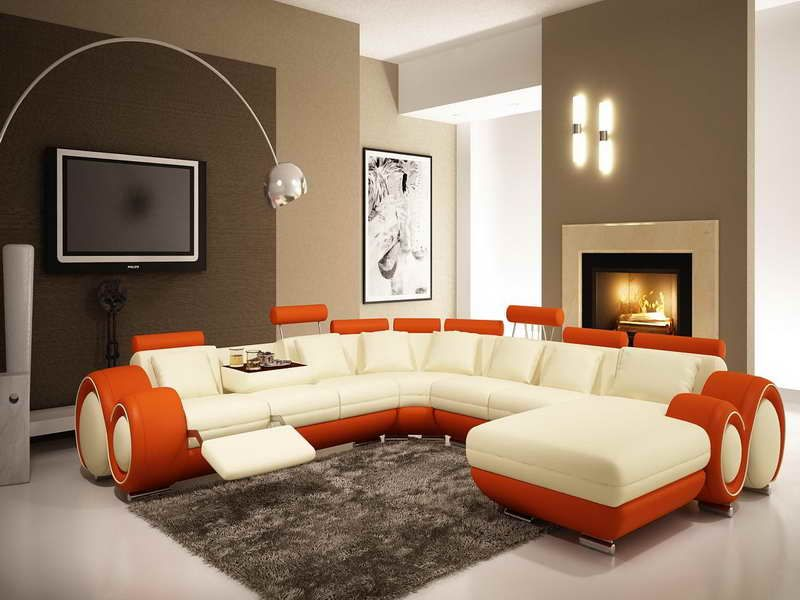 Brown Accent Wall Colors Living Room - Love the multi-tone walls ...