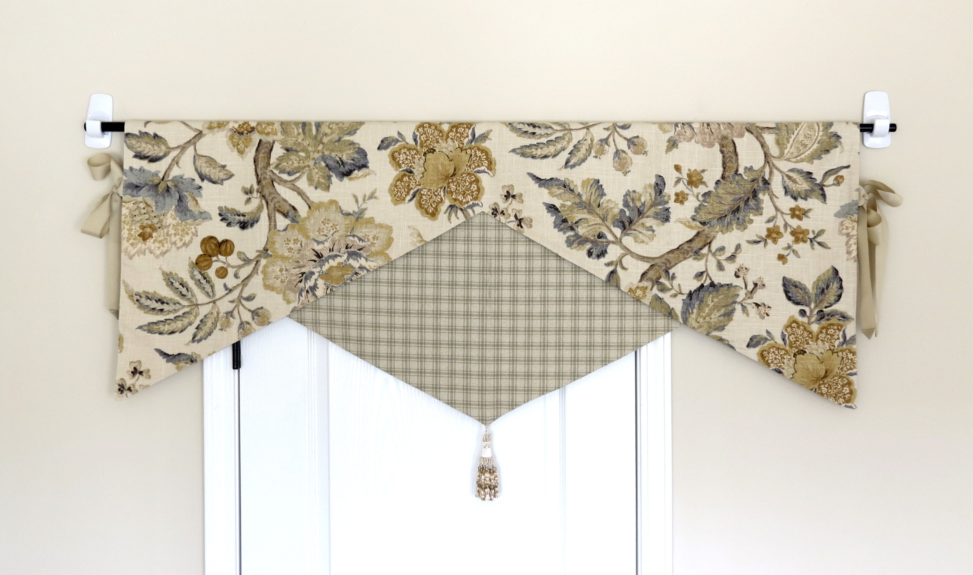 Reversible Yellow Grey Kitchen Bathroom Valance Bathroom Valance Valance Curtains Valance