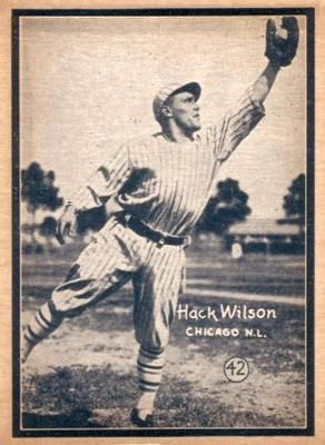 1931 W517 42 Hack Wilson Front With Images Cards Baseball Cards Trading Cards