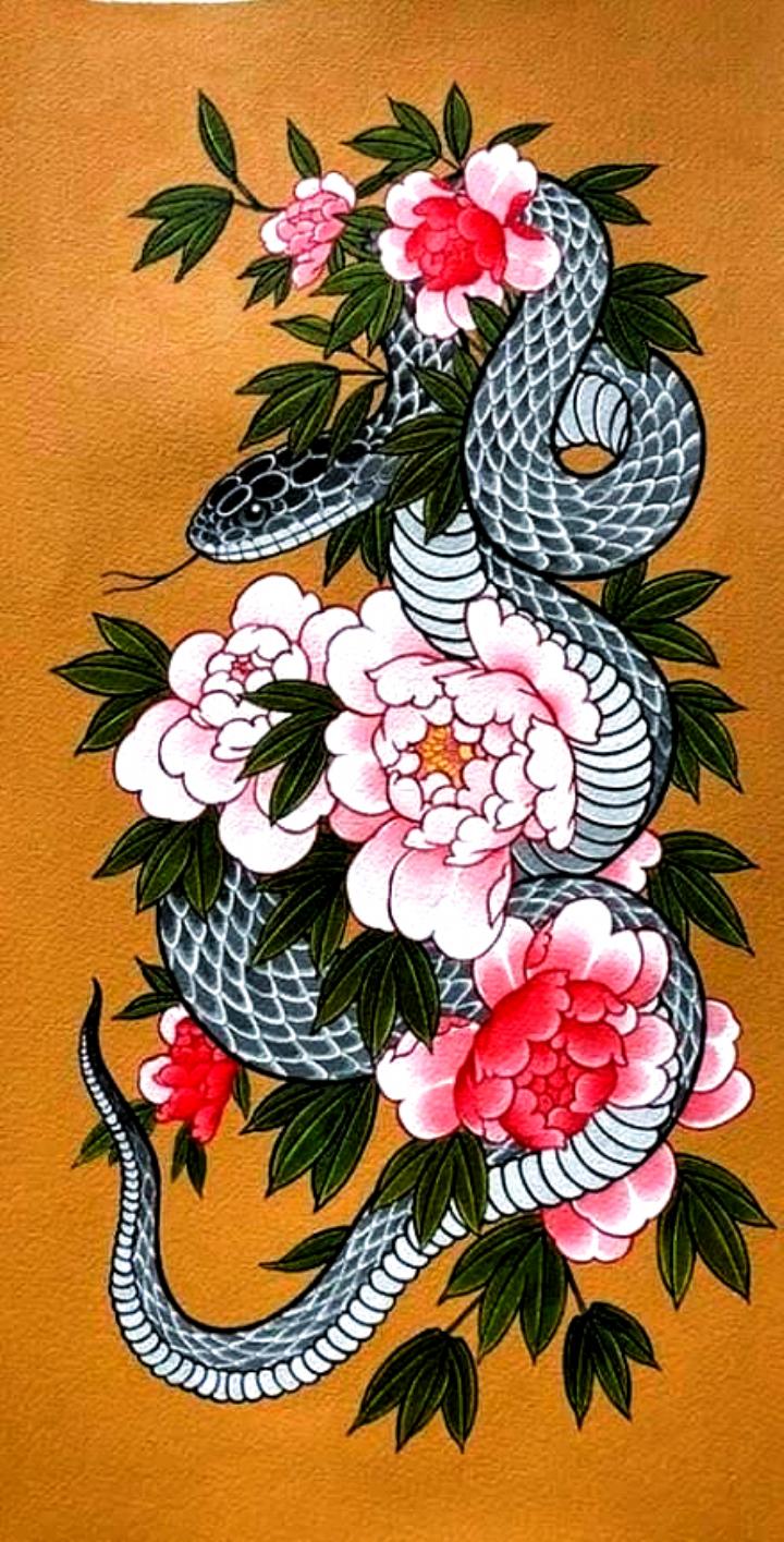 15 Traditional Japanese Snake Tattoo Designs Petpress In 2020 Japanese Snake Tattoo Snake Tattoo Design Japanese Tattoo Art