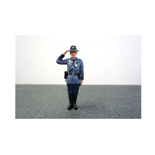 State Trooper Brian Figure For 1:24 Diecast Model Cars by American Diorama