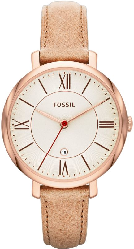 2ae7ae1a0228 Fossil Jacqueline Rose Gold brown ref. number ES3487