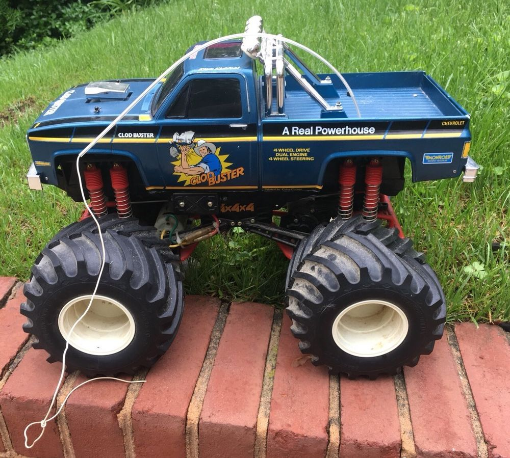 1987 Vintage Tamiya Clodbuster Original Rc Monster Truck 4x4x4 Monster Trucks Rc Monster Truck Trucks