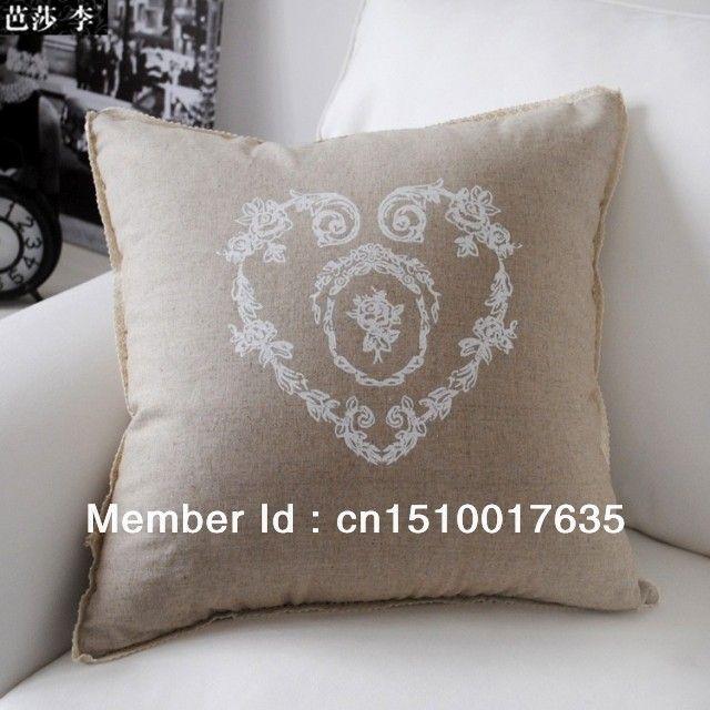 French Table Linens Wholesale   Wholesale-Retail-45cm-45cm-French-Provincial-Floral-Heart-Linen-Pillow ...