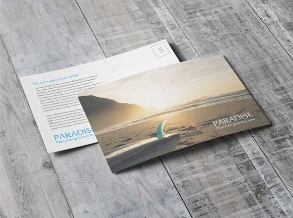 Beautiful Postcard Mock Up