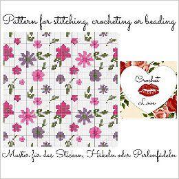 Delicate Flowers: Pattern for stitching, crocheting or beading - Muster für das Sticken, Häkeln oder Perlenfädeln