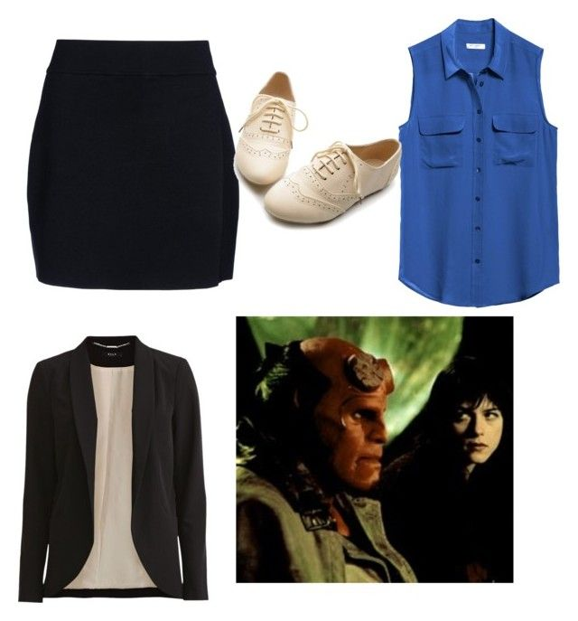 """""""Investigating Liz Sherman"""" by tardisgirl09 ❤ liked on Polyvore featuring A.L.C., Equipment, VILA and Ollio"""