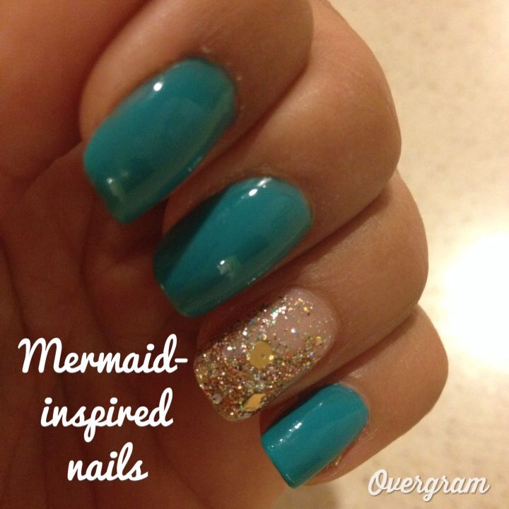Mermaid-inspired nail design. Great for beach vacations or even New ...
