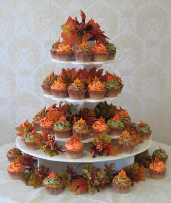 Fall Wedding Cupcake Tree Fall Wedding Cupcakes Fall Wedding Cakes Wedding Cupcake Tree