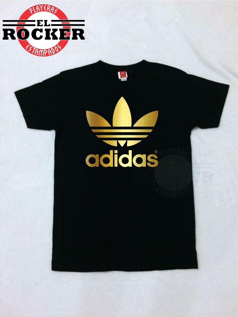 52885b6b1c2be Playera adidas Logo Dorado -   110.00