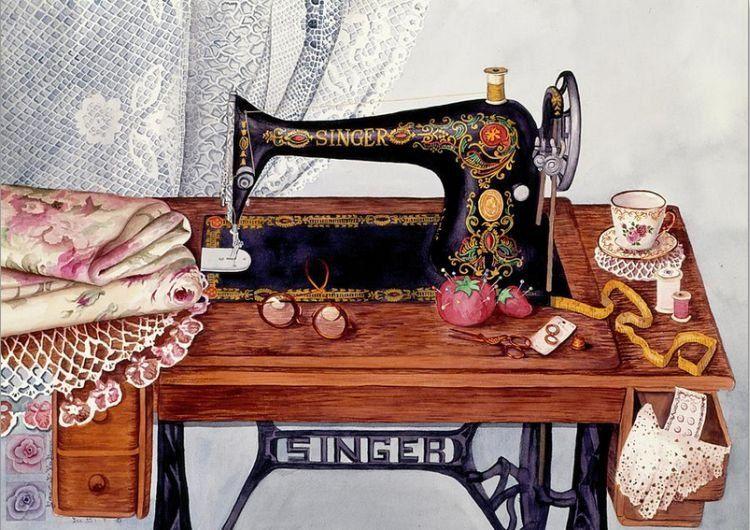 Рисунок книгу о тряпку швейная машина фото личным помощником
