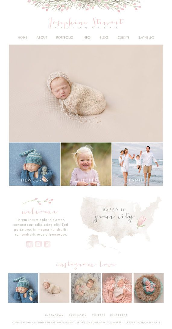 Wix Website design website template by SunnyBlossomDesigns on Etsy ...