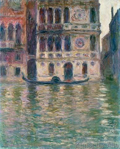 Claude Monet - Le Palais Dario, Venise