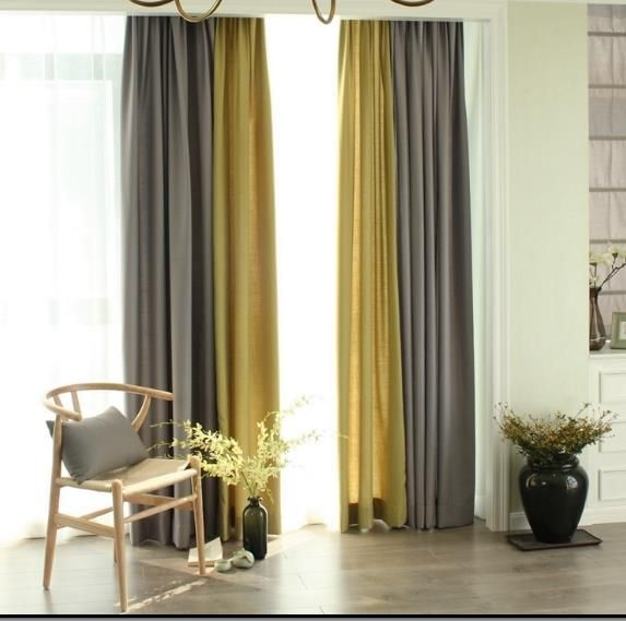 Awesome Curtain Ideas For Bay Window Living Room Eclectic: Yellow Curtains (With Images)
