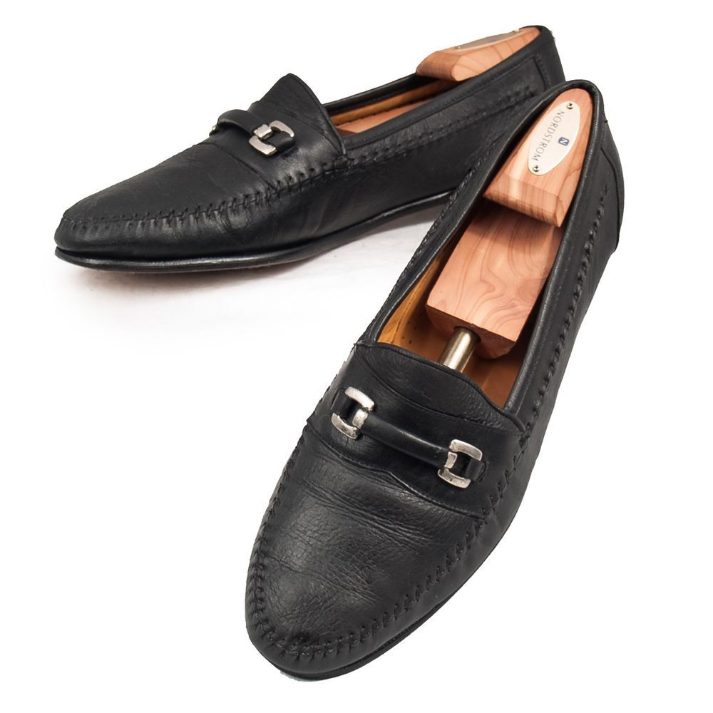 Daniele Lepori Leather Driving Moccasins Men/'s Shoes Italy Blue