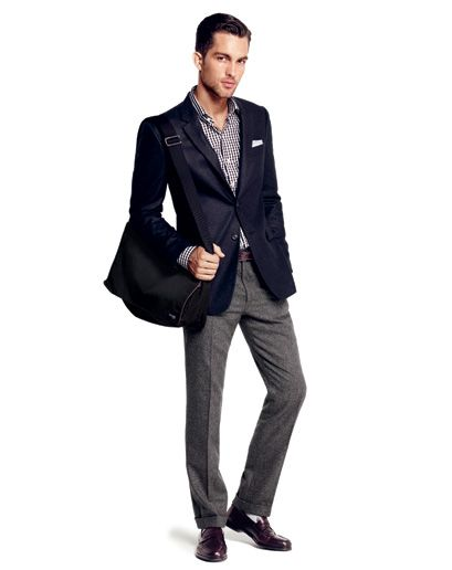 A tailored jacket gives your torso some much needed shape—not to mention a  place to stow your cell phone and wallet. • Keep your laptop and magazines  in a ... 986c3391e4b