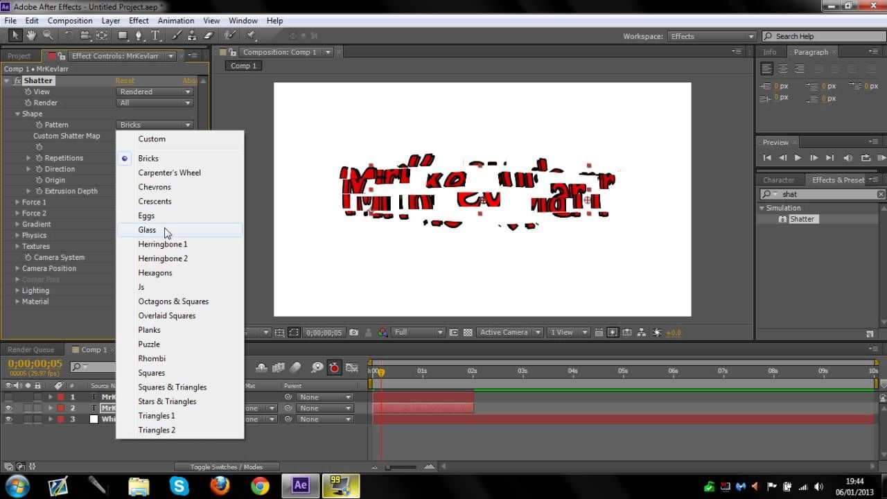 Reverse Shatter Effect After Effects Tutorial After Effect Tutorial Tutorial Custom Bricks