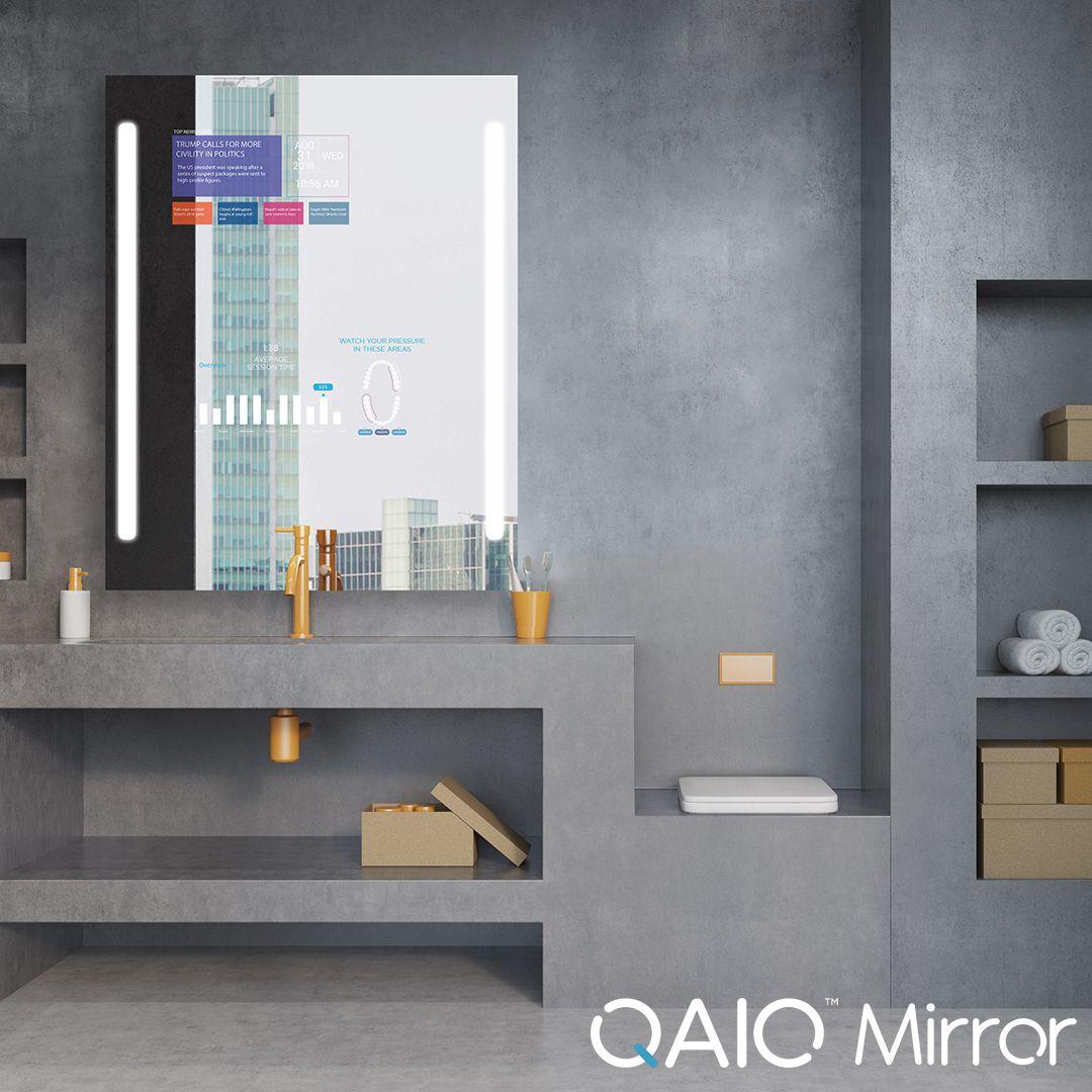 Verwenden Sie Ihren Badezimmerspiegel Mit Qaio Smart Mirror Anders