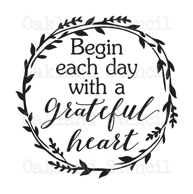 c535c770f76f1 Inspirational STENCIL *Begin each day... for Painting Wood Signs ...