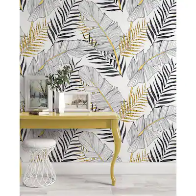 Our Best Wall Coverings Deals In 2021 Gold And Black Wallpaper Black And White Wallpaper Tropical Wallpaper