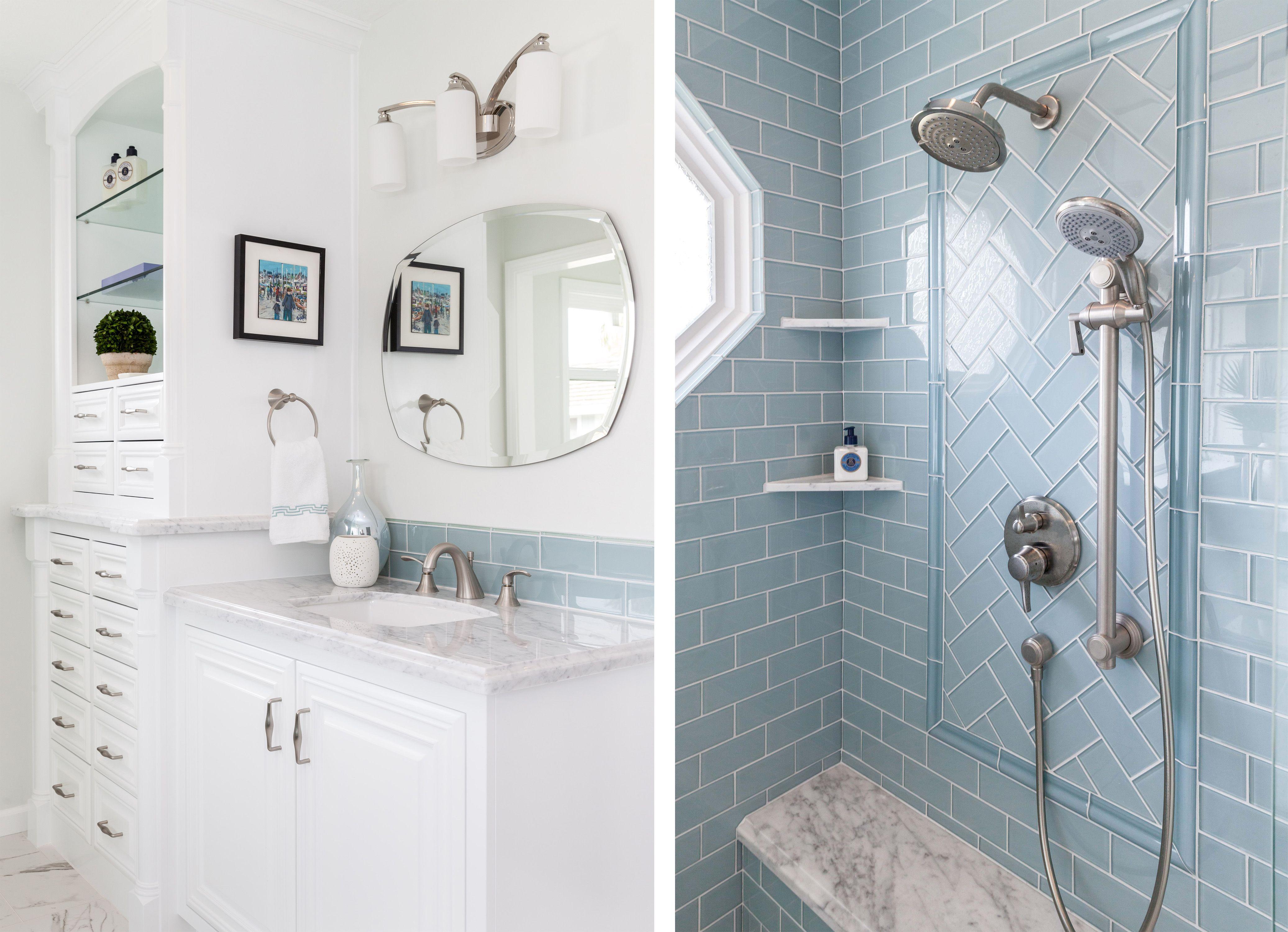Glamorous Glass Ensuite - Rebecca Ward Design Master Bath with glass ...