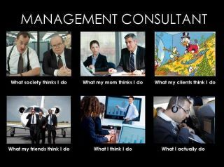 What people think I do consulting meme