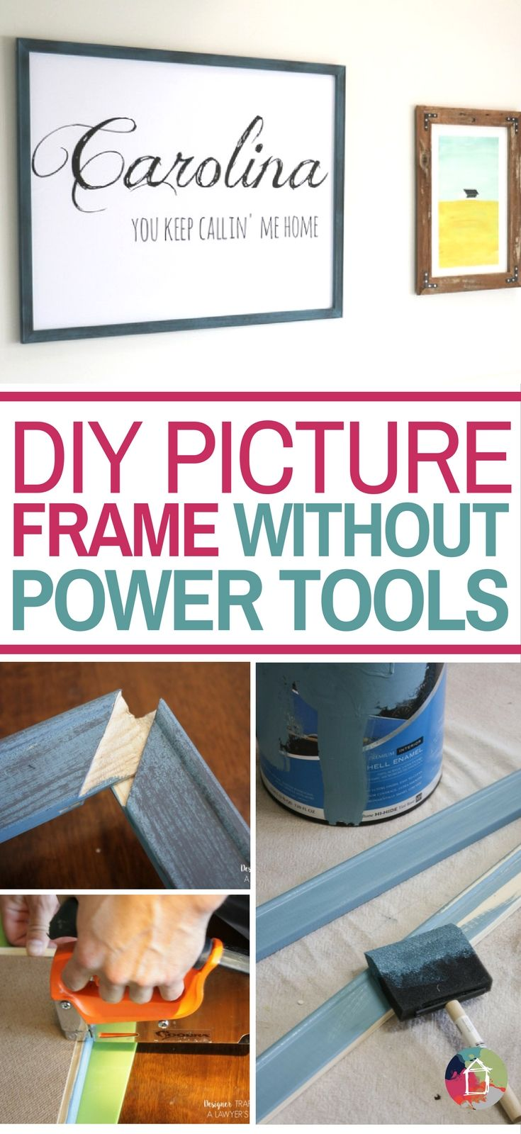 DIY Picture Frame--NO SAWING OR CUTTING REQUIRED! | Learning and Crafts