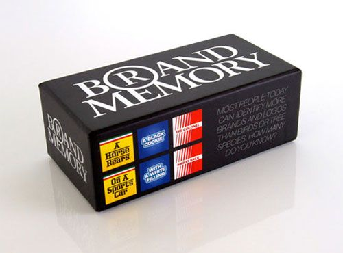 A memory game to identify a brand without a logo. I want to play this so bad!!!