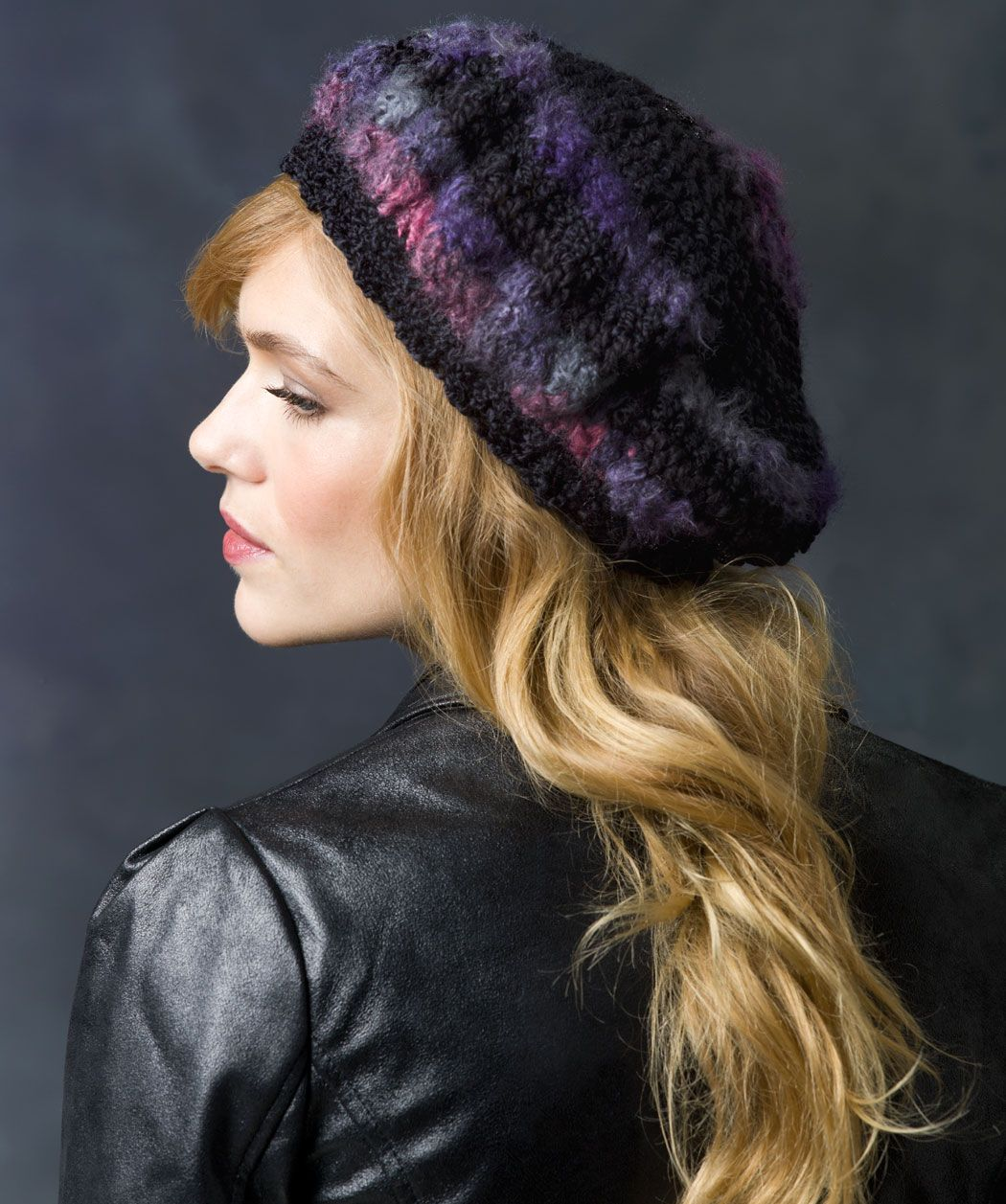 skill level easy! Crochet Slouchy Beret - free redheart.com pattern ...